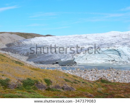 Glacier in Greenland - stock photo
