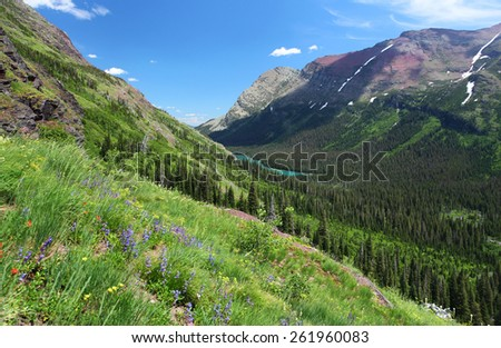 Glacier National Park in Montana - stock photo
