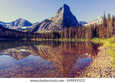 Glacier National Park, Montana, USA - stock photo