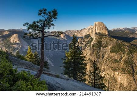 Glacier Point, Yosemite National Park - stock photo