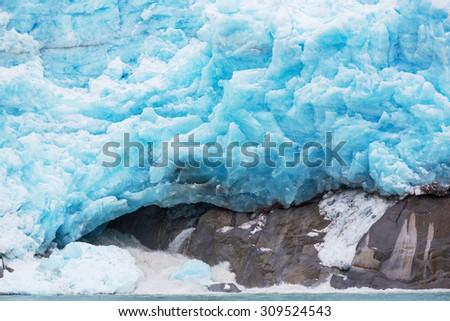 Glaciers in Alaska - stock photo