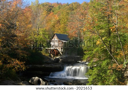 Glade Grist Mill in West Virginia - stock photo