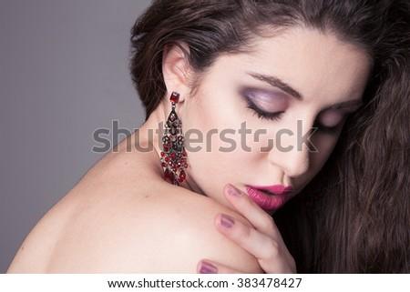 glam girl  - stock photo