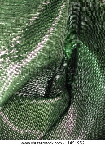 Glamor shimmering background - series - green. More fabrics available in my port. - stock photo