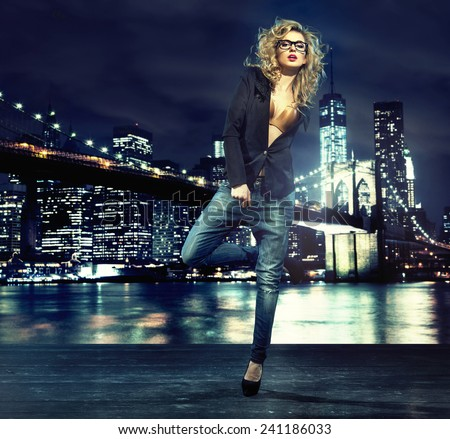 Glamorous blonde beauty - stock photo