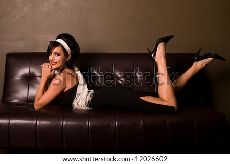 Glamorous Pin-up girl. - stock photo