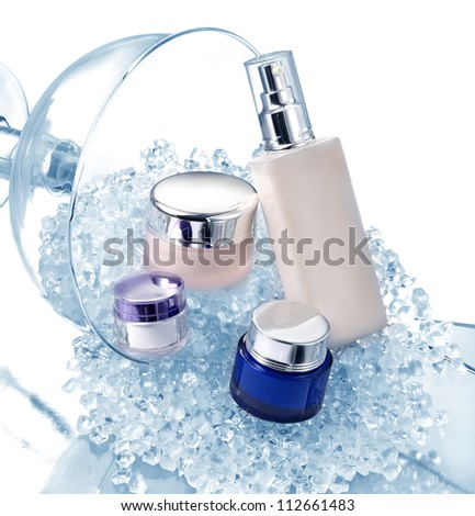Glamorous set of cosmetics - stock photo