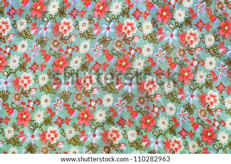 glamour fabric with red and pinks roses - stock photo