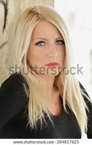 Glamour portrait of beautiful woman model - stock photo