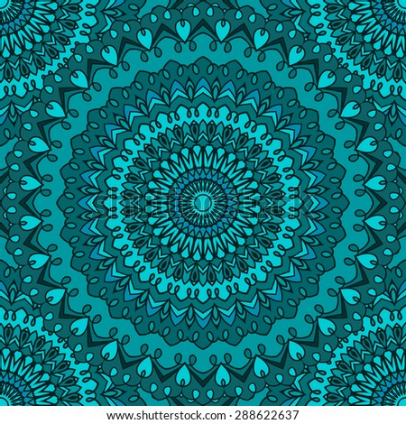 glaring bright colored hand-drawing ornamental abstract seamless lace background with many details for design of silk neckerchief or printing on textile or use for card, invitation cover. Raster copy - stock photo