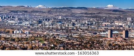 Glasgow City Skyline - stock photo
