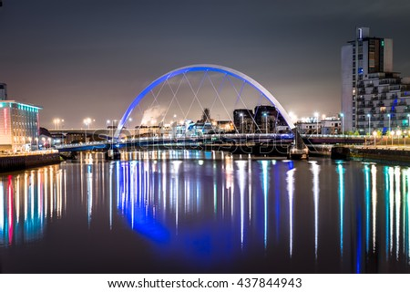 Glasgow Clyde Arc Bridge - stock photo