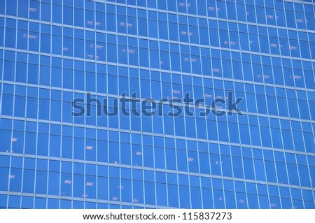 Glass and Steel background - stock photo