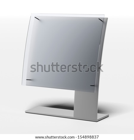 glass banner - stock photo