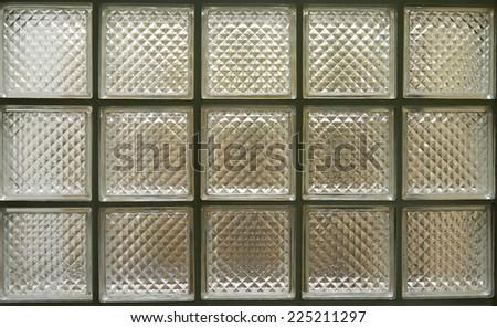 Glass block wall - stock photo