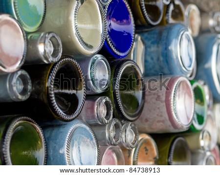 Glass bottle art - stock photo