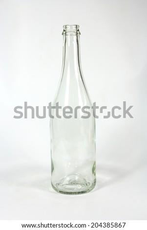 glass bottle isolated on white background - stock photo