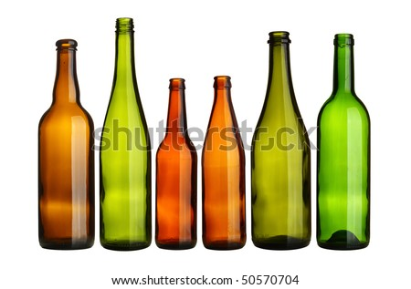 Glass Bottles - stock photo