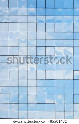 Glass building background - stock photo