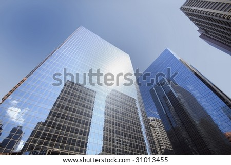 glass buildings - stock photo