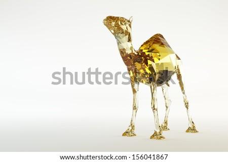 Glass Camel - stock photo