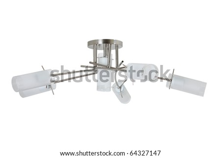 glass chandelier isolated - stock photo