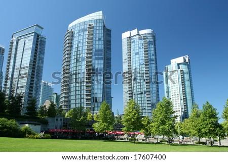 Glass Condominium Towers - stock photo