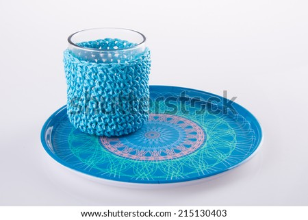 glass cup. Empty glass cup on the background - stock photo