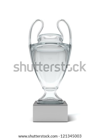 Glass cup of the winner - stock photo
