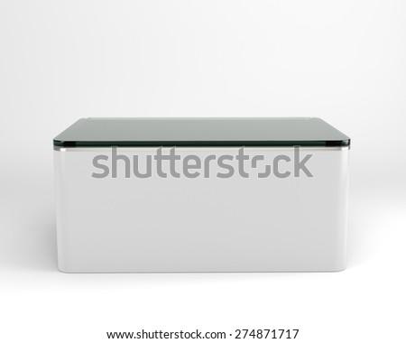 glass display - stock photo