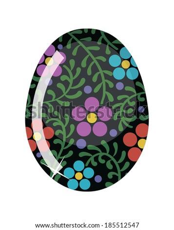Glass Easter egg..  Raster version - stock photo