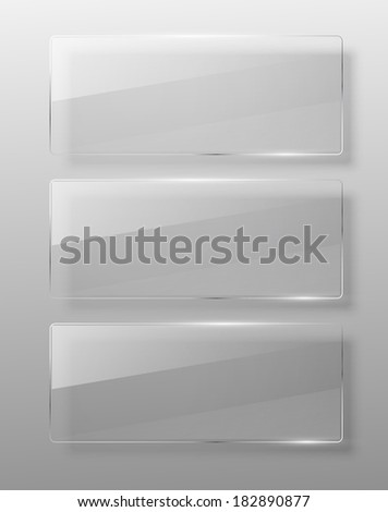 Glass framework. Jpeg version. - stock photo