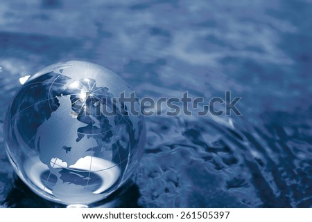 glass globe - stock photo