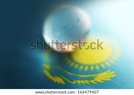 Glass globe Kazakhstan - stock photo