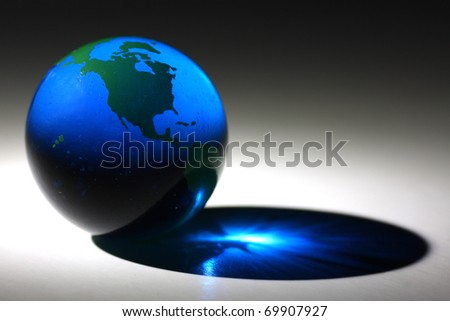 glass globe of earth - stock photo