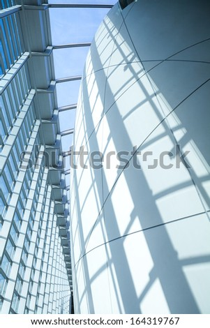 Glass in Business Corporate office building Financial Skyscrapers, City of London, England, UK  - stock photo