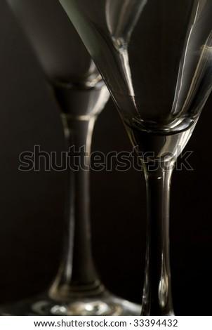 Glass in the dark - stock photo