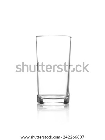 Glass  isolated on white - stock photo