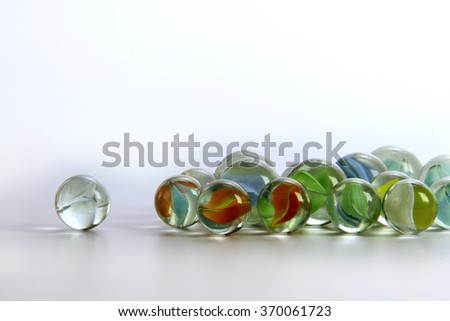 Glass marble ball India - stock photo