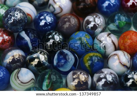 Glass marble colorfull balls, abstract background - stock photo