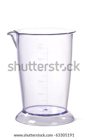 Glass Measuring Jug Isolated On White Background - stock photo