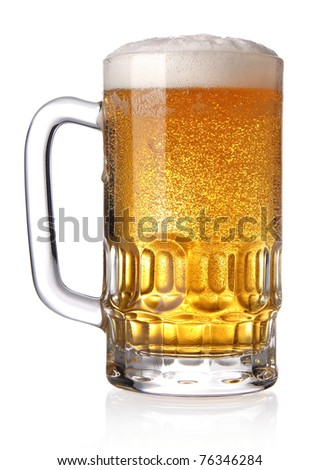 Glass of beer (clipping path) - stock photo