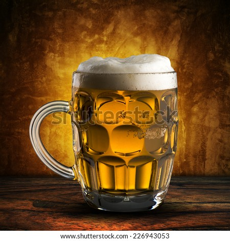 Glass of Cold Beer - stock photo