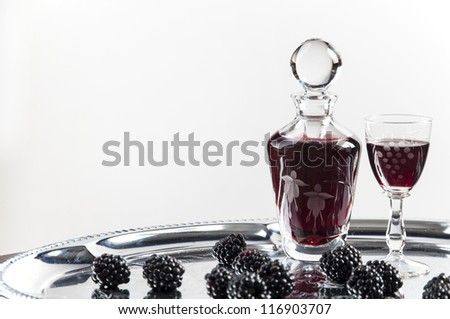 glass of cordial - stock photo