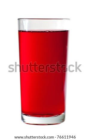 Glass of cranberry juice - stock photo
