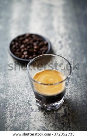 Glass of Espresso - stock photo