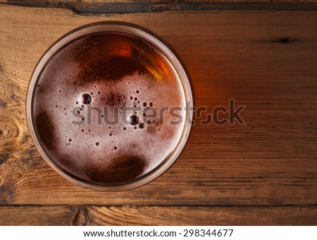 glass of fresh lager beer  - stock photo