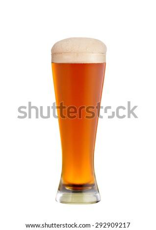 glass of kvass, isolated on white - stock photo
