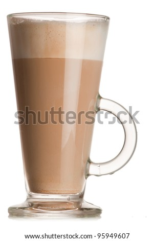 glass of latte - stock photo