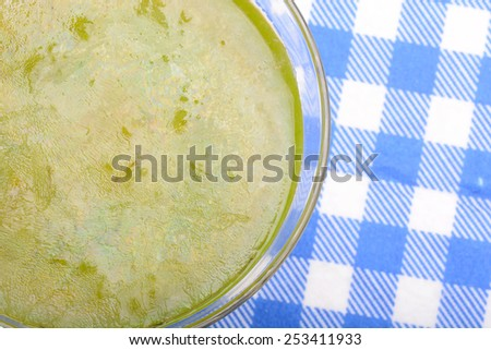 Glass of very cold drink - stock photo